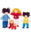 Speelgoed poppetjes familie 4 stuks