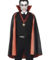 Carnavalskostuum PVC dubbelzijdige cape rood/zwart