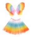 Carnavalskostuum Regenboog fee set voor kinderen