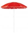 Rode strand parasol van nylon