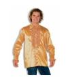 Carnavalskostuum Rouche overhemd voor heren goud