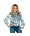 Carnavalskostuum Rouches blouse zilver dames