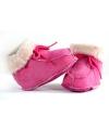Warme gevoerde babysloffen roze