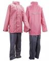 Regenkleding roze met grijs voor kids