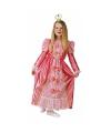 Kanten roze prinsessen jurk
