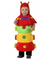 Gekleurde rups kostuum voor peuters