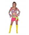 Carnavalskostuum Seventies hippie jurkje met print