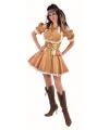 Feest artikelen sexy gouden jurk