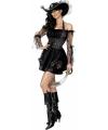 Carnavalskostuum Sexy piratenjurkje zwart