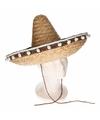 Stro sombrero 40 cm voor volwassenen