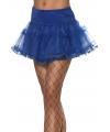 Carnavalskostuum Tule petticoat blauw