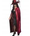 Carnavalskostuum Tweezijdige luxe cape rood en zwart
