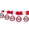 Verjaardag Verkeersbord slinger 50 jaar 4 mtr