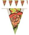 Plastic vlaggenlijn clown voor binnen en buiten