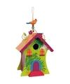 Gekleurd vogelhuisje met Hawaii thema