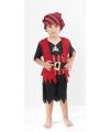 Zwart en rood piraten kostuum