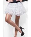 Kanten petticoats wit voor dames