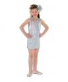 Glinsterende jurk zilver voor meisjes