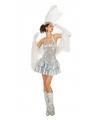 Zilveren pailletten showgirl jurk voor dames
