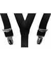 Elastische bretels zwart voor meisjes