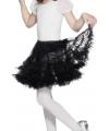 Feest petticoat zwart voor kinderen